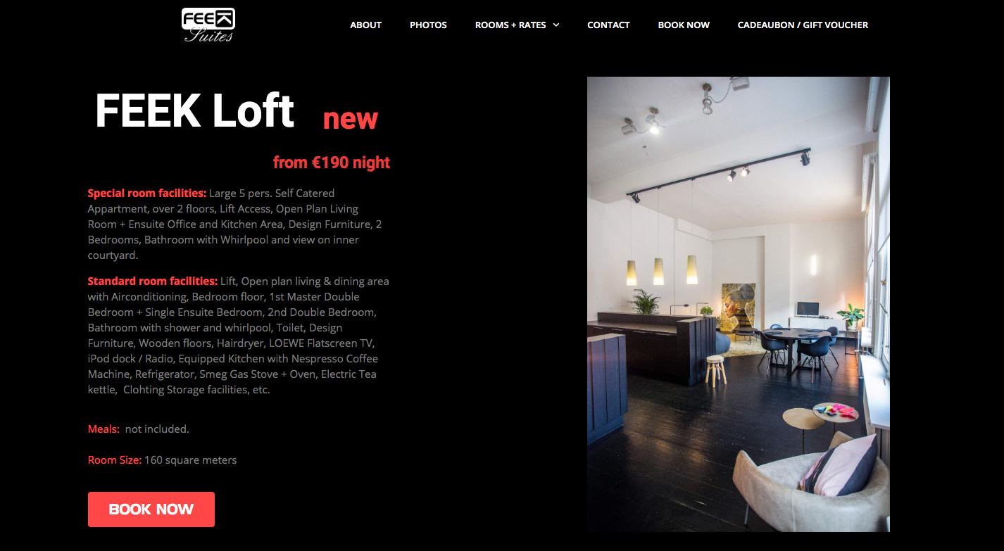 Feek Suites Website