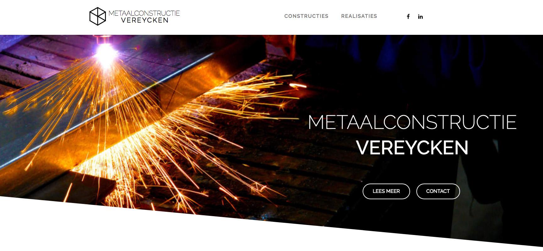 Metaalconstructie Vereycken Website